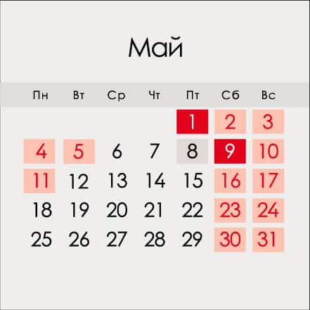 Сколько выходных ожидает россиян на майские праздники в 2020 году
