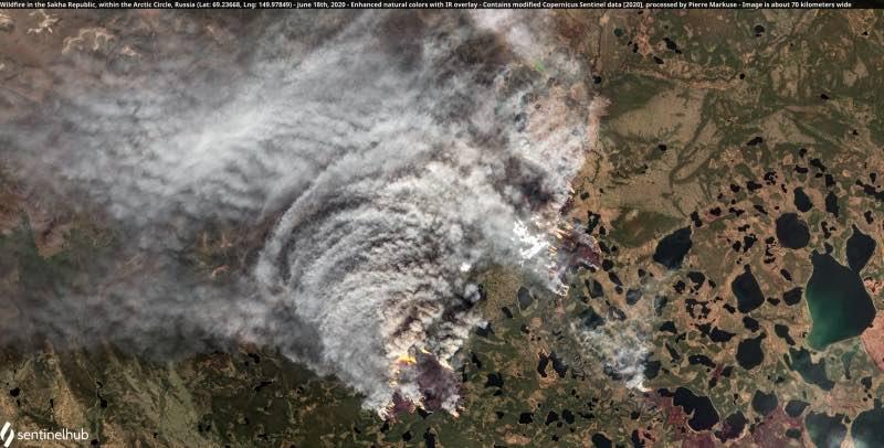 В самом холодном месте России аномальная жара – быстро распространяются лесные пожары