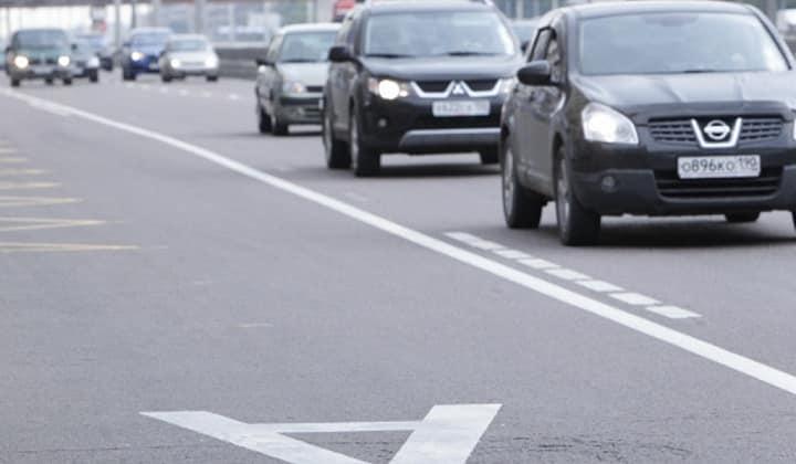 В Москве вводят запрет на передвижение по выделенной полосе