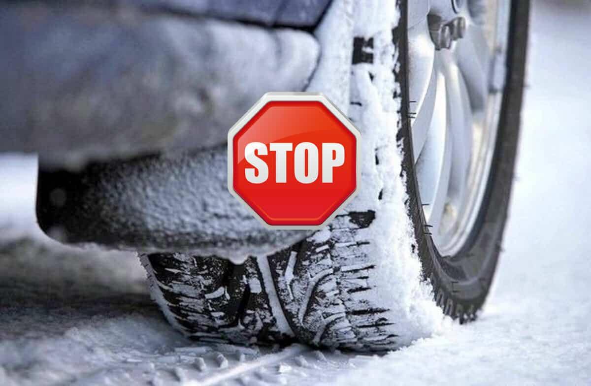О введении запрета на езду с летними шинами зимой, высказались в Федерации автовладельцев России