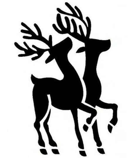 Новогодние трафареты и шаблоны для рисования и вырезания на окно в Новый год быка 2021