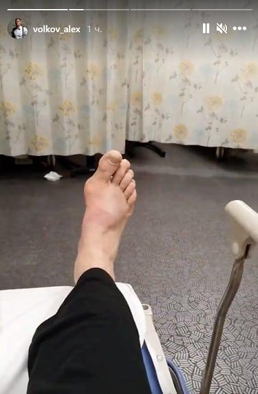 Волкова отвезли в больницу после победы над Оверимом