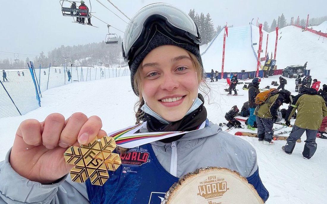 Прыжок с трамплина на лыжах 20-летней Анастасии Таталиной на чемпионате мира в Аспене восхитил зрителей